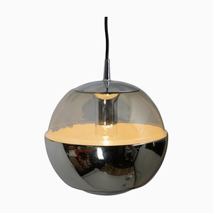 Chromed Mirror Pendant Lamp from Peil & Putzler