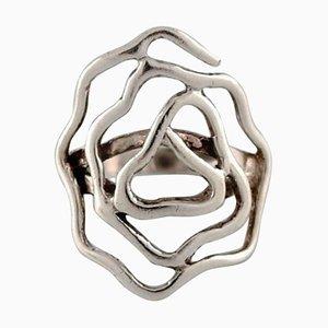 Schwedischer silberner moderner Sterling Silber Ring, 1960er