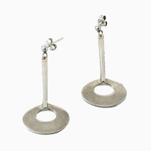 Silver Earrings by Tone Vigeland, Set of 2