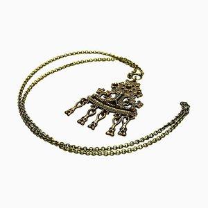 Vintage Bronze Necklace Karku by Kalevala Koru, 1960s