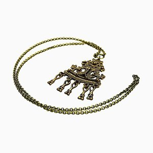 Vintage Karku Halskette aus Bronze von Kalevala Koru, 1960er