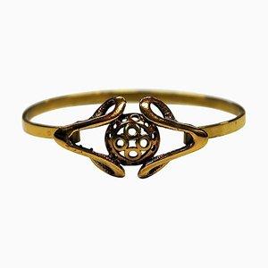 Bracelet en Bronze avec Anneau Amovible, 1960s