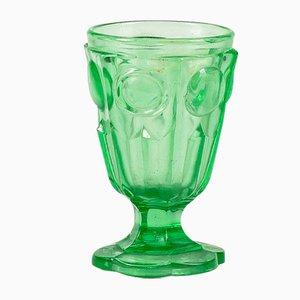 Italienisches Vintage Grünglas, 19. Jahrhundert
