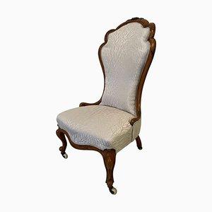 19th Century Antique Victorian Carved Walnut Chair