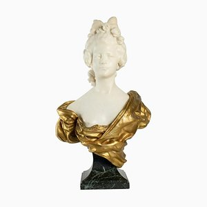 Bust Sculpture of an Actress by Afortunato Gory