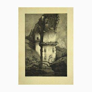 Bruno Croatto - the Bridge - Original Radierung - 1897