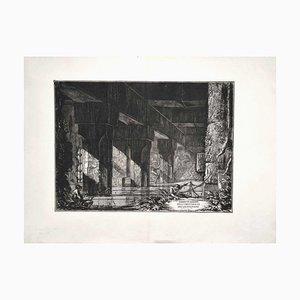 Giovanni Battista Piranesi - Demonstranten Abgesandter des Albano Sees - Radierung - 1750er