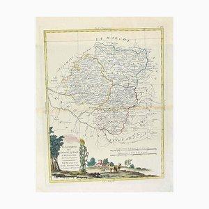 Antonio Zatta - Landkarte von Lymosin-Périgord-Quercye - Original Radierung - 1776