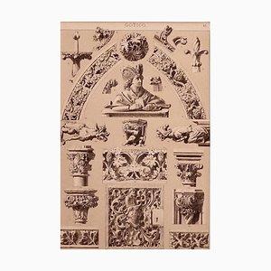 Unknown - Gothic Ornate - Offsetdruck und Lithographie auf Papier - Frühes 20. Jahrhundert