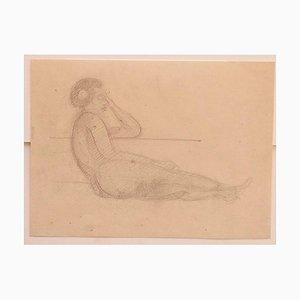Jean Delpech - Akt - Original Bleistift auf Papier - 1930er
