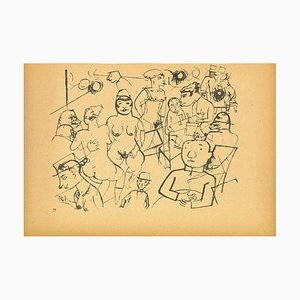 George Grosz - Dr. Benn's Night Cafe - Offset and Lithograph - 1923