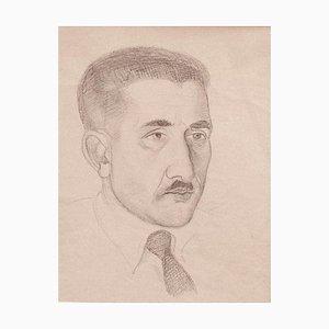 Unknown - Portrait - Original Pencil on Paper - 1940s
