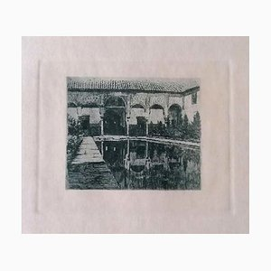 Luca Beltrami - Certosa - Original Etching on Paper - 1884