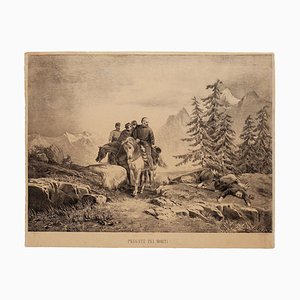C. Ronchi - Prey for the Dead - Original Lithograph - 1860s