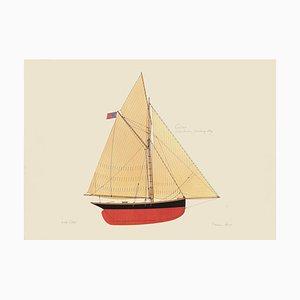 Franco Testa - Boot - Original Lithographie - 1990er