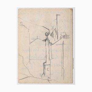 Herta Hausmann - Rome Streets - Original Drawing on Paper - 1940s