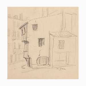 Maxime Juan - Houses - Original Pencil - Mid-20th Century