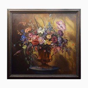 Öl auf Leinwand, Stilleben mit Blumen