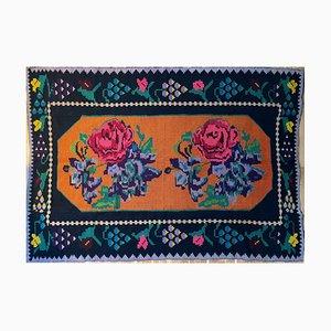 Vintage Romanian Handwoven Rug