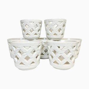 Mid-Century Chamotte Vases / Flower Pot by Gunnar Nylund for Rorstrand, Sweden, Set of 7