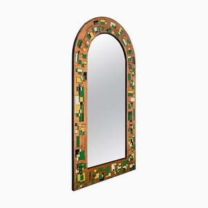 Italian Mirror with Copper-Colored Repoussé Sheet Frame