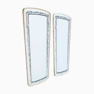 French Black and White Patterned Mirrors, 1960s, Set of 2