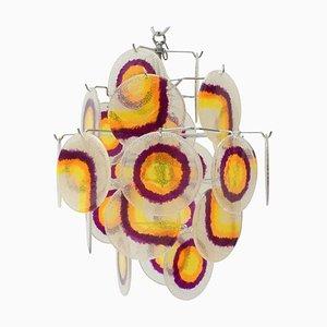 Multicolor Lucite Disc Chandelier, 1970s