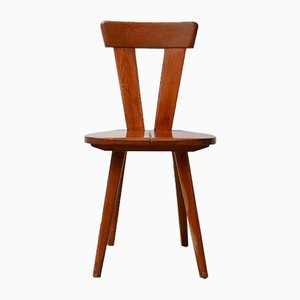 Polish Pine Zydel Dining Chairs by Wincze & Szlekys for LAD, 1940s, Set of 4