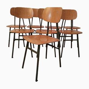 Schreibtischstühle mit Grünen Metallgestellen von Niko Kralj für Stol Kamnik, 1970er, 6er Set