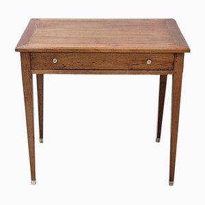 Small Early 19th Century Solid Cherry Wood Writing Table