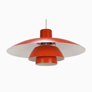 Rote Vintage Deckenlampe von Poul Henningsen für Louis Poulsen, 1980er