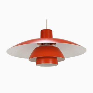 VIntage Red Ceiling Lamp by Poul Henningsen for Louis Poulsen, 1980s
