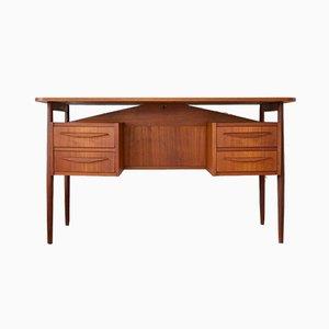 Danish Teak Desk by Gunnar Nielsen for Tibergaard, 1960s