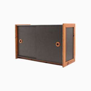 Italian Laminate & Wood Cabinet, 1970s