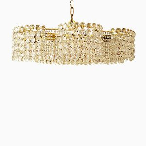Large Cut Crystal Chandelier by J.L Lobmeyr for Lobmeyr, 1950