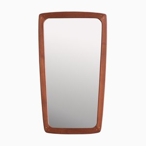 Mid-Century Danish Teak Mirror from A.M. Spejle, 1960s