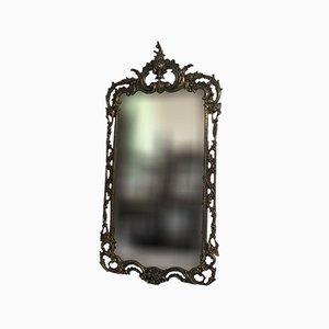 Specchio Art Nouveau in bronzo