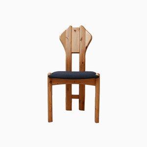 Danish Pine Dining Chairs, 1970s, Set of 4