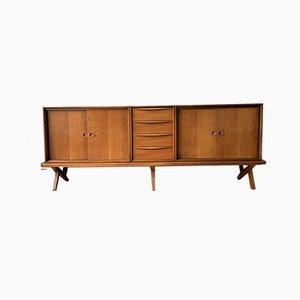 Long Walnut Sideboard by Rudolf Glatzel for Fristho, 1950s