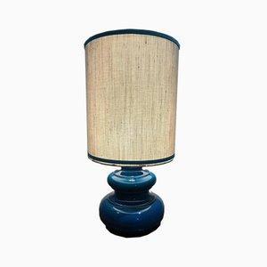 Blue Ceramic Table Lamp, 1970s