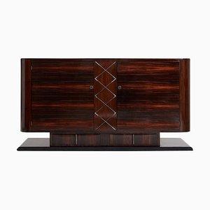 Art Deco Macassar Ebenholz Sideboard