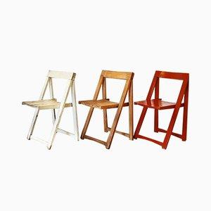 Chaises Pliantes par par Aldo Jacober pour Stol Kamnik, 1970s, Set de 3