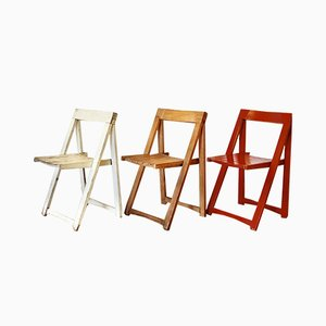 Folding Chairs by by Aldo Jacober for Stol Kamnik, 1970s, Set of 3