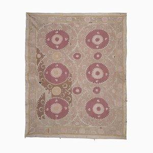 Samarkand Uzbek Suzani Carpet, 1970s
