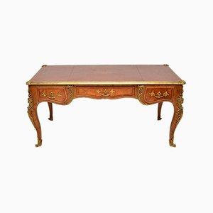 Large Antique French Gilt Bronze Mounted Desk