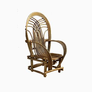 Hand Crafted Willow Chair, 1900s