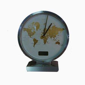 LCD Worldtimer Table Clock by Heinrich Möller for Kienzle International, 1985