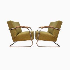 Vintage Czechoslovakian Armchairs for Mücke Melder, Set of 2