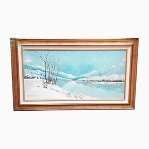 Raffignone Franco, Snow Scene, Gemälde