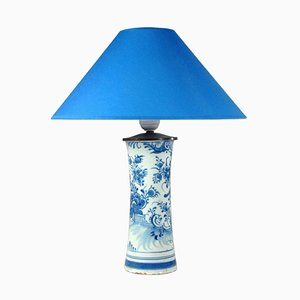 Antique Faience Table Lamp from Delft